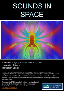 Sounds In Space Poster 2014